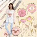 Las mujeres del otoño y el invierno de Corea chica de dibujos animados de algodón homewear pijamas Pijamas ropa de noche fija de manga larga traje femenino S2446