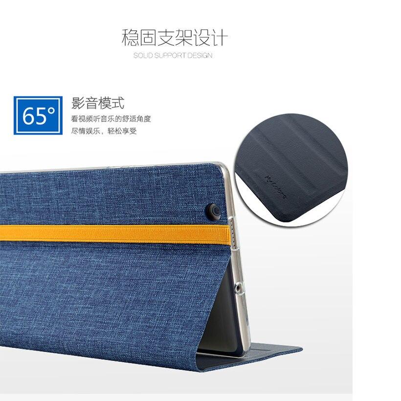 Silikoon + riie PU nahast kaitseümbris Huawei jaoks MediaPad M3 - Tahvelarvutite tarvikud - Foto 2