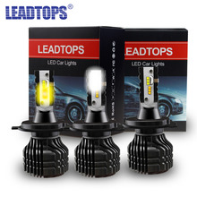 Фотография LEADTOPS 1 set Led Car headlight Mini Size H4 H7 H11 9005 9006 HB3 HB4 CSP Chips Auto Headlamp Car Light 8000lm 12v 24v DE