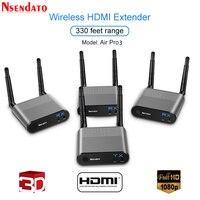 Measy воздуха Pro 3 100 м/330FT 2,4 ГГц/5,8 ГГц Беспроводной Wi Fi HDMI аудио видео удлинитель передатчик отправителя приемник комплект с ик сигнала