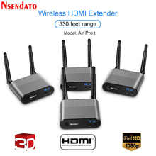 Measy Air Pro 3 100M/330FT 2.4GHz/5.8 GHz Wireless Wifi HDMI Audio Video Extender Transmitter Sender Receiver Kit With IR Signal