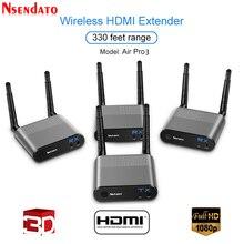 Measy Air Pro 3 IR 신호가있는 100M/330FT 2.4GHz/5.8 GHz 무선 Wifi HDMI 오디오 비디오 익스텐더 송신기 송신기 수신기 키트