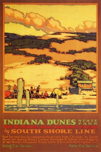 CHICAGO ILLINOIS CENTRAL A3 vintage retro travel /& railways posters wall decor#3