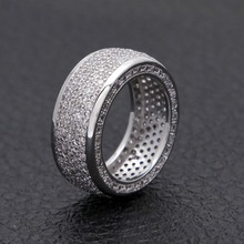 Cubic Zirconia Rings Iced Out High Quality Rings Gold Silver Finger Ring