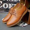 2016 Новых Обувь Из Натуральной Кожи Квартиры Причинно Мода Бизнес Платье Обувь Марка Оксфорд Обувь бесплатная доставка