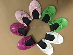 Free shipping ! Foldable flats wedding gift ballerina for guest in differernt colors