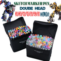 30 36 40 48 60 72 80 Colors Dual Headed Marker Set Animation Manga Design School