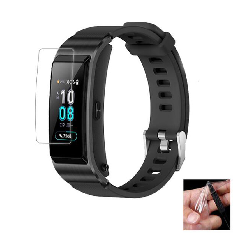 2pc Anti-shock Soft TPU Clear Protective Film Guard For Huawei TalkBand Talk Band B5 Smart Wristband Full Screen Protector Cover