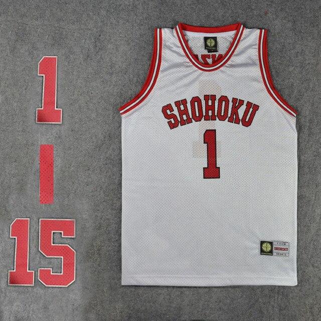 cc27b5c5784 Shohoku School Basketball Team Jersey Tops Shirt 1-15 Sakuragi Hanamichi  Sports Wear Uniform SLAM