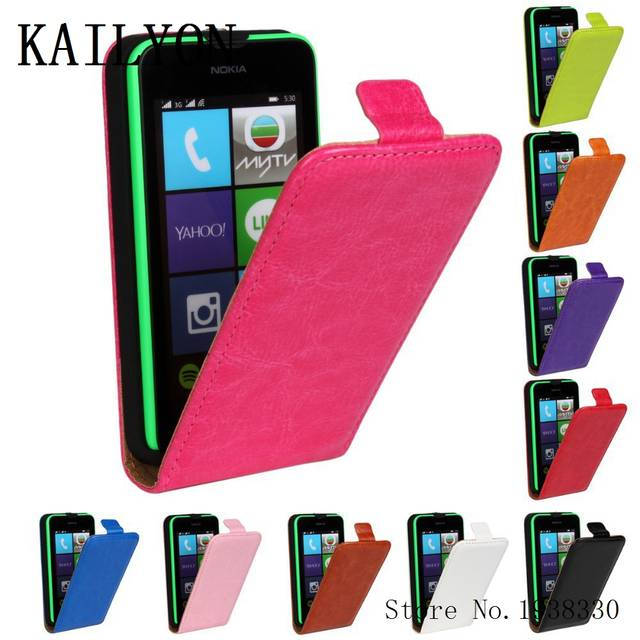promo code 4d640 5d78c KAILYON For Nokia Lumia 530 N530 Flip vertical case cover Mobile phone Bags  Holster Senior Leather Case Phone Back Cover Brand W
