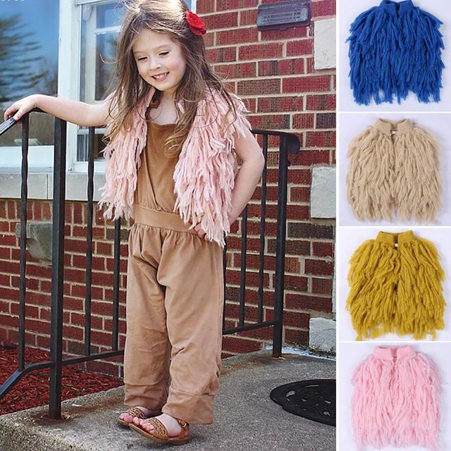 Nueva Primavera Otoño Niñas Suéter suéter de la rebeca de los Bebés Niños Boutique de Moda suéter de Lana de Punto chaleco Q3