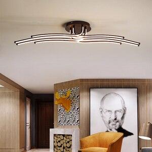 Image 5 - Đèn LED Hiện Đại Trần Cà Phê Sáng Tạo Sự Tối Giản Đèn Cho Phòng Khách Phòng Ngủ Nhà Chiếu Sáng Trang Trí Nhôm Ốp Trần
