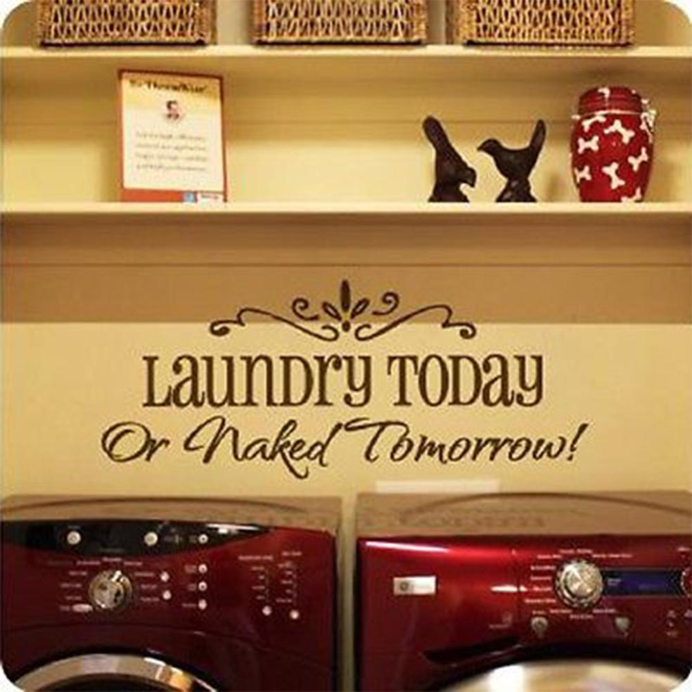 DIY Removable Wall Stickers Laundry