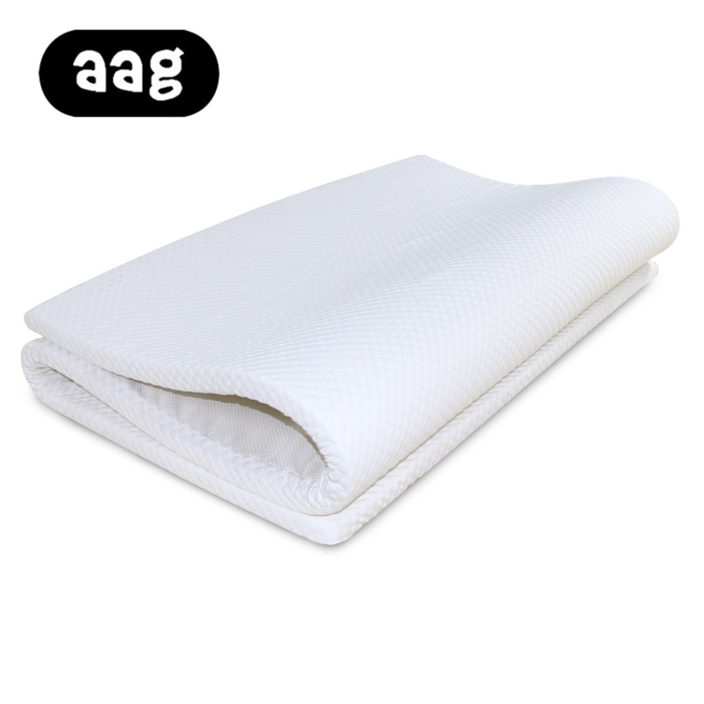 AAG Solid Color Sleeping Bed Mattress Waterproof Breathable Anti mite Protection Cover Mat High Quality Bed Cushion for Bedroom in Mattress Toppers from Home Garden