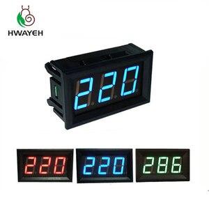 """Image 1 - AC 70 500 v 0.56 """"LED דיגיטלי מד מתח מתח מד וולט מכשיר כלי 2 חוטים אדום ירוק כחול תצוגת 110 v 220 v DIY 0.56 inch"""