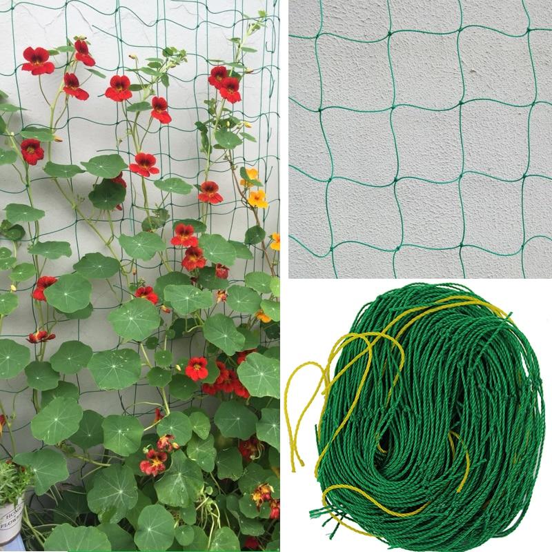 20pcs 0.8m*1.8m Garden Fence Nylon Net Climbing Frame Gardening Net Plant Fence Anti-bird Net Vegetable Plant Trellis Netting