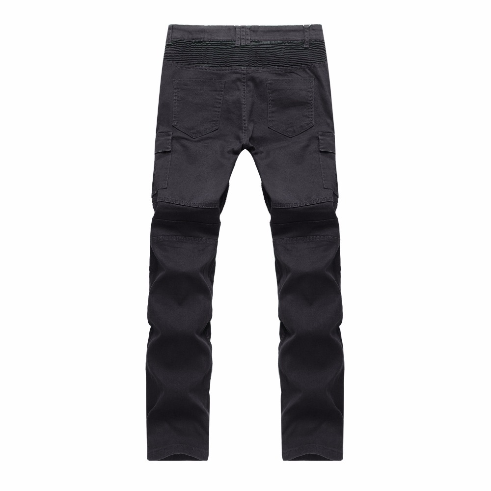2018 New Tooling trousers Multi-pocket Men Jeans Racer Biker Jeans Fashion Hiphop Skinny Jeans For Men Denim Joggers Pants Male
