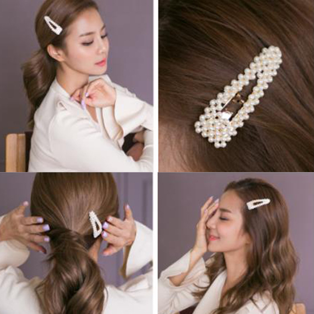 Pearl Metal Hair Clip Hairband Comb Bobby Pin Barrette Hairpin Headdress Accessories Beauty Styling Tools in Women 39 s Hair Accessories from Apparel Accessories