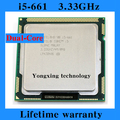 Пожизненная гарантия Core i5 661 3.33 ГГц 4 м SLBNE четыре темы настольных процессоров компьютер процессорный сокет LGA 1156 контакт.