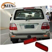 OKEEN For Toyota Land Cruiser 100/Cygnus LX470 Car LED Rear Bumper Reflector Lig