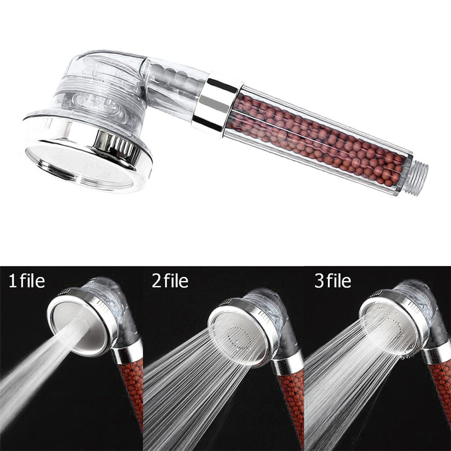 High Turbo Pressure Shower Head Bathroom Hand Large Rainfall Water Saving Filter White 24cm Dropshipping #1101