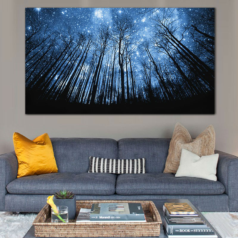 Hot Sale Forest Night Printed Painting Printed Painting Oil Painting On Canvas framed Painting for Home Decor Wall Decor
