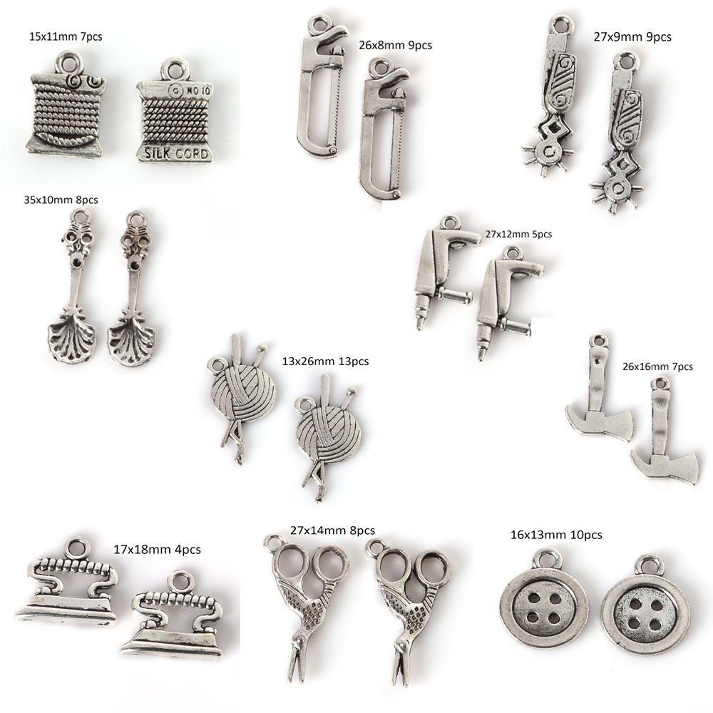 Multi Style Antique Silver Tone Charms Pendants for DIY Fashion Jewelry Making Findings Vintag Charm Handmade European Bracelets jewelry making