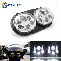 Harley LED Headlight 5.75'' Motorcycle Dual led headlights for Harley Road Glide Projector Driving Light