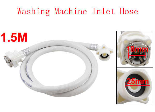 "Laundry Washing Machine Washer White Water Inlet Hose Pipe 1.5M 59"" 2pcs"