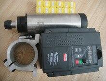 Cnc шпинделя комплект ER11 цанги ER11 воздушного охлаждения 1.5KW шпинделя + 13 шт. + 1 шт. 1.5kw инвертор + 1 поддержка шпинделя