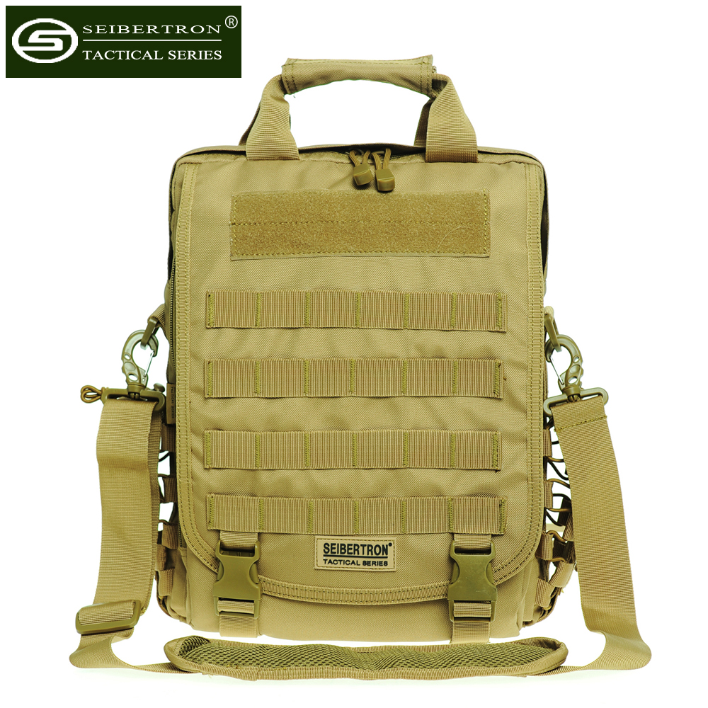 ФОТО New Waterproof Tactical Bag 15.6(Inch) Laptop Bag Shoulder Bag and Backpack Black Brown