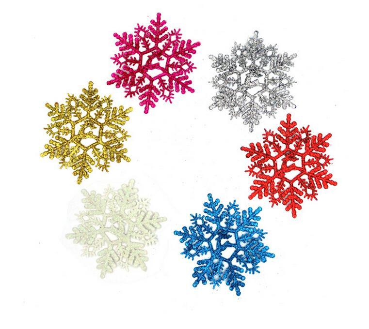 Envío libre Navidad color nieve hoja, Navidad adornos del árbol ...