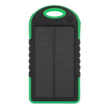 Portable 20000mAh Dual USB Solar Mobile Power Bank