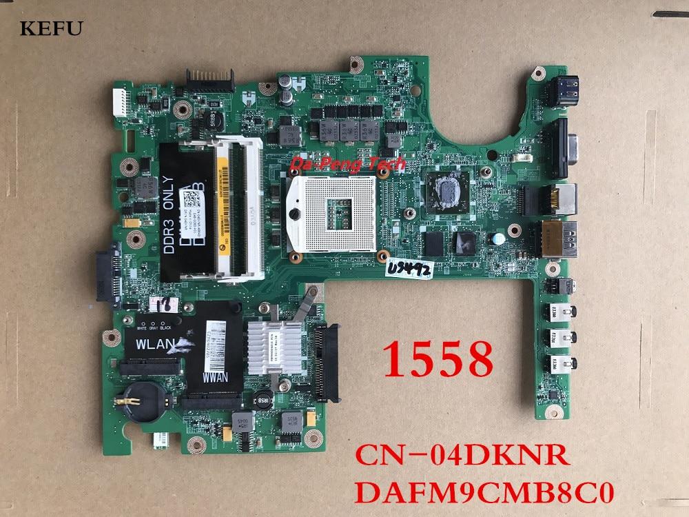 KEFU DAFM9CMB8C0 For Dell Studio 1558 Laptop Motherboard HM55 HD5470 1GB Support i7 Processor CN 04DKNR