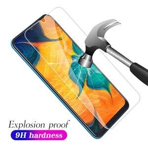 Image 2 - 9H Vetro Temperato Per Samsung Galaxy A50 A30 M20 M30 A10 M10 A7 2018 A750 Trasparente Dello Schermo Della Copertura Della Protezione vetro temperato