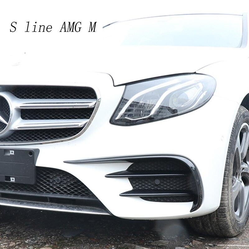 Araba Styling için Mercedes Benz E sınıfı E63 AMG kafa ön sis lambası göz kapağı dekorasyon kapakları Trim çıkartmalar otomatik aksesuarları