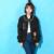 Mujeres Chaqueta de Bombardero 2016 León Delgada prendas de Vestir Exteriores Para Mujer Damas Estilo Boyfriend Moda Cat Imprimir Casual Top Mujer Ropa Negro