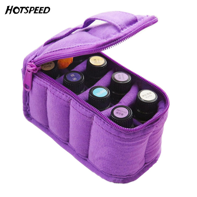 8 Bottles Essential Oil Carrying Case 5ml/10ml/15ml Essential Oils Bag Storage For Traveling Sturdy Double Zipper