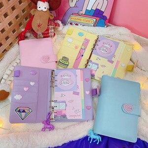 Image 4 - DIY Notebook Planer Kawaii 저널 소녀의 일기 주최자 다채로운 책 노트 학생 일일 주간 계획 편지지 선물