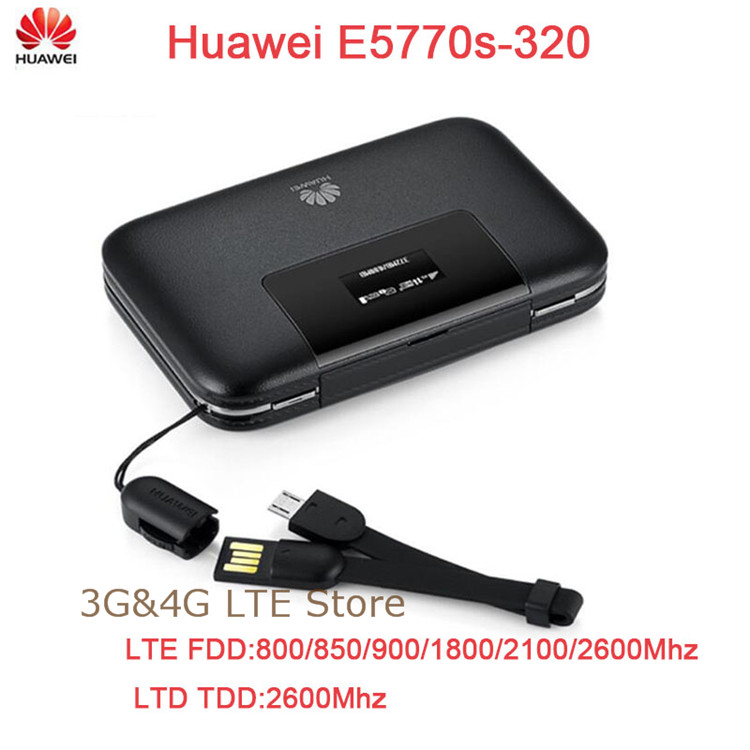 Unlocked Huawei E5770s-320 LTE 4G WiFi Pro 150Mbps Mobile Router With RJ45 Port цена