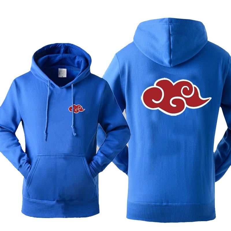 Japan Anime Naruto Akatsuki Red Cloud Print Hoody For Men 2019 Autumn Winter Sweatshirt Fashion Casual Tracksuits Hoodies Hot