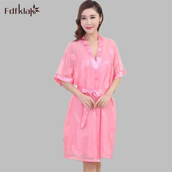 3131e6503f Gown Robe Set Sexy Lingerie Womens Dressing Robe 2017 Summer New Deep V-Neck  Women Silk Sleepwear Bathrobe 4 Styles E1096