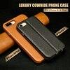 Jisoncase Genuine Leather Flip Case For Apple 7 8 Case Luxury Protective Shell Kickstand Folio Flip