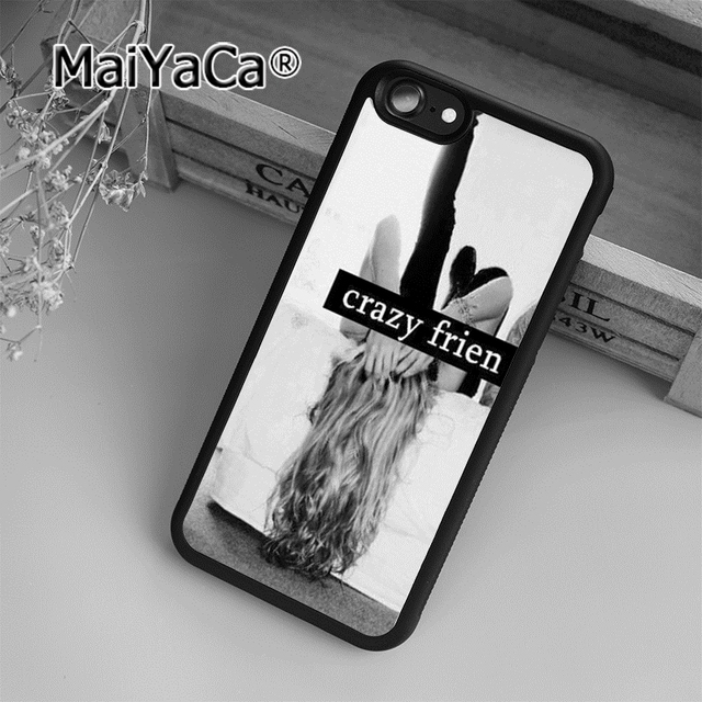 pretty nice ea696 55dcf MaiYaCa Pair Set BFF Best Crazy Friends Soft Rubber cell phone Case Cover  For iPhone 6 6S phone cover shell-in Fitted Cases from Cellphones & ...