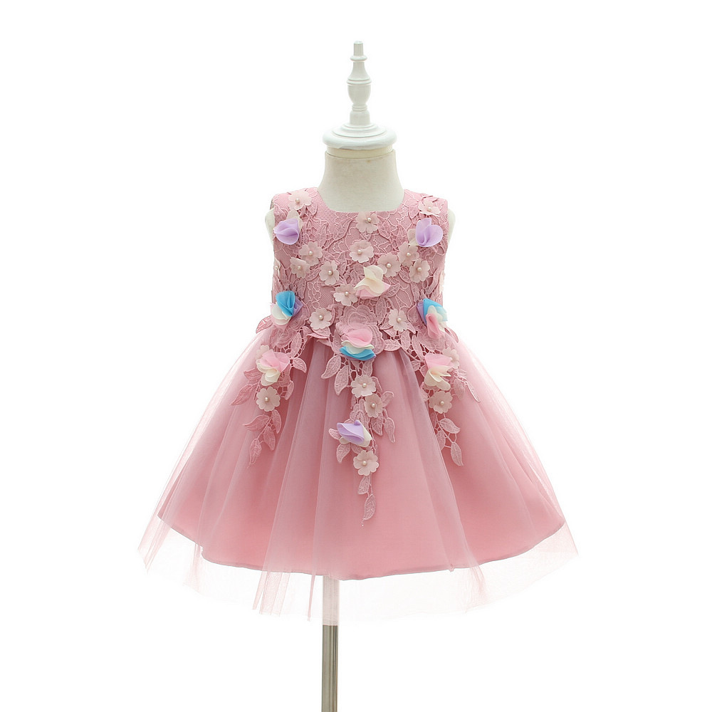 BBWOWLIN Baby Girl Dress Pink and Purple Appliques for Party 0 To 2 Years Vestido Infantil 9014 ...