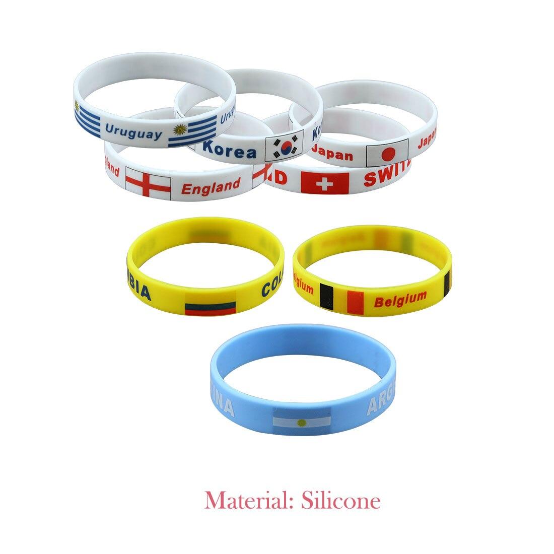 1pcs Football Fans Bracelet Soccer Fan Accessories Football Silicone Bracelet Cheerleading Supplies