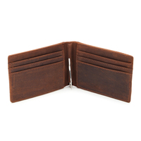 Crazy Horse Genuine Leather Men Wallets Short Male Wallet Small Purse Coin Pocket Mens Wallet Rfid