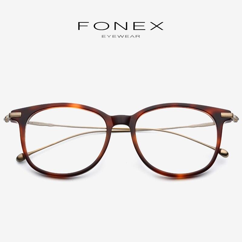 Pure B Titanium Optical Glasses Frame Men 2019 New Fashion Vintage Square Prescription Eyeglasses Women Myopia