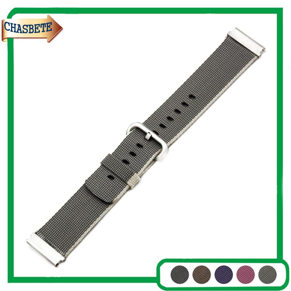 Nylon Watch Band for Fossil 22mm Belt Wrist Strap Loop Bracelet Black Brown Grey Pink Purple + Tool + Spring Bar рубашка в клетку insight back to zero fossil brown