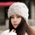 new winter knitted real rex rabbit fur fashion women fur hat Skullies pom pom decor top Beanies multi colors super warm soft hat